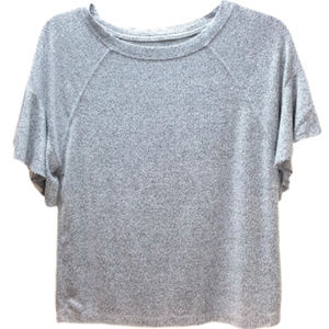 Abercrombie & Fitch Soft Gray Ruffle Sleeves Sz XS
